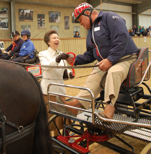 Princess Anne toasts charity's success as RDA Carriage Driving turns 40