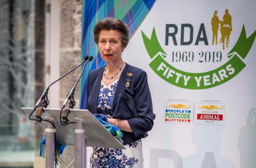 Princess Anne meets riders at new RDA Training Centre